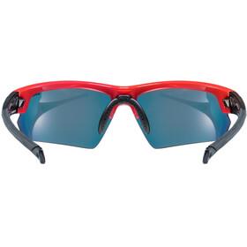 UVEX Sportstyle 224 Sportglasses red black/mirror red